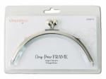KimberBell Large Crescent Clasp Purse Frame Vintage Brass
