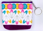 Buttons & Pins Zipper Pouch