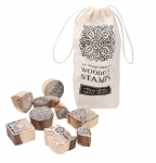 Clearance - WoodCut Stamps 12 count by Moda