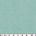 STOF FABRICS - Mix Melange - Flowers, Light Turquoise