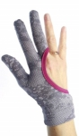 Regi's Grip Quilting Gloves Lace Print Pink Medium