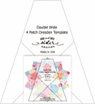 Double Wide Four Patch Dresden Template by Me and My Sister Designs - Includes Free Cherry Pickin Pattern