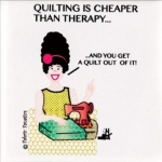 Magnet - Quilting Is Cheaper by Fabric Fanatics