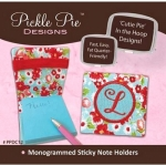 Monogrammed Sticky Note Holders  CD by Pickle Pie Designs