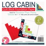 Log Cabin 6 inch Block Foundation Paper Pad by Its Sew Emma