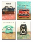 Retro Themed Pocket Notepad Set