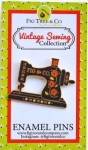 Clearance - Sewing Machine Enamel Pin by Fig Tree Quilts