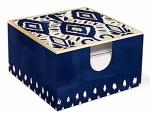 Indigo Blues Memo Box w/Pen by Lady Jayne