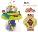 Tutu Green Mason Jar Sewing Caddy by SmartNeedle