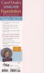 Carol Doak's Legal Size 8.5x14 Foundation Paper 50 sheets