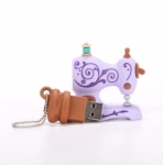 USB 4GB - Lilac Antique Sewing Machine by SmartNeedle