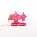 USB 4GB - Pink Antique Sewing Machine by SmartNeedle