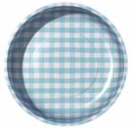 Sew Together Aqua Gingham Magnetic Pin Bowl