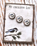 The Wooden Bear Chickadoo Notepad & Magnet Set