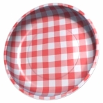 Sew Together Red Gingham Magnetic Pin Bowl