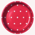 Sew Together Polka Dots Red Magnetic Pin Bowl