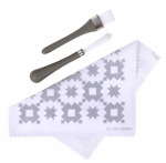 Oh Sew Clean - Grey Brush and Cloth Set by It's Sew Emma