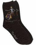 Sock - Black Quilting Girl by K. Bell
