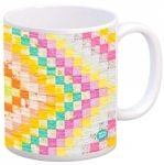 MUG - Diamonds Vintage Quilt Mug by Quilt Happy