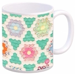 Hexagons Vintage Quilt Mug by Quilt Happy