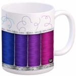 MUG - Spools Mug by Quilt Happy