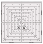 Creative Grids 14-1/2in Square It Up or Fussy Cut Square (CGRSQ14)