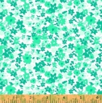 WINDHAM FABRICS - All A Flutter - Tiny Floral Green
