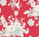 BREWER  - Tilda - Cottage - Botanical - Red