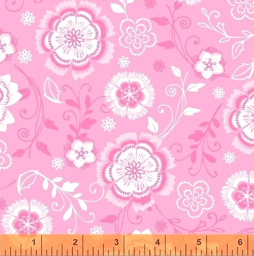 WINDHAM FABRICS - All A Flutter - Floral Pink