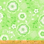 WINDHAM FABRICS - All A Flutter - Floral Green