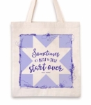 Clearance - Start  Over Tote Bag by Quilt Happy