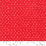 MODA FABRICS - Farm Fresh - Red Feathers