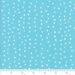 Skinny - SK704- 1 1/4 yds - MODA FABRICS - Farm Fresh - Aqua Polka Dots