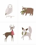 MODA FABRICS - Merriment - Forest Animals Large - PL230