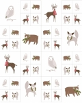 MODA FABRICS - Merriment - Forest Animals Small - PANEL - PL229