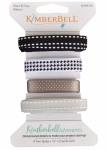 Kimberbellishments Black & Grey Ribbon Set