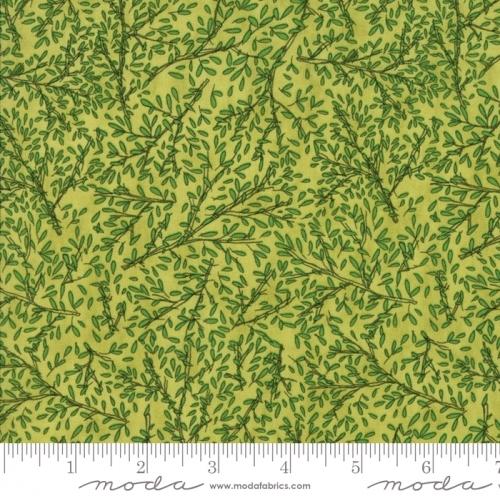 MODA FABRICS - Sweet Pea Lily - Sprigs - Green - #2905-