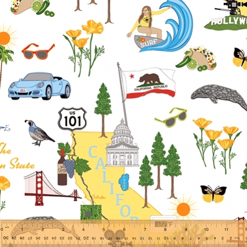 WINDHAM FABRICS - State Cotton - California
