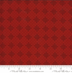 MODA FABRICS - Redwork Gatherings by Primitive Gatherings - Light Red