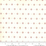 MODA FABRICS - Redwork Gatherings by Primitive Gatherings - Cream