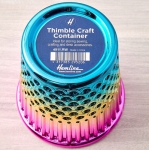 Plastic Rainbow Thimble Craft Container by Hemline