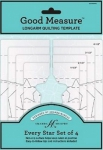 Good Measure - Every Star 4 pc Longarm Quilting Templates by Amanda Murphy