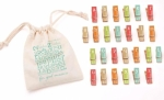 Clearance - For Good Measure 26 Clothespins Alphabet Brights