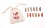 Make Your Mark 12 Clothespins Designs Red Blue