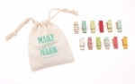 Make Your Mark 12 Clothespins Designs Brights