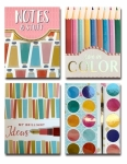 Art Supplies Themed Pocket Notepad Set