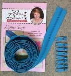 3 yards of  Zipper Tape with 8 Slides Aqua
