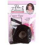 3 yards of Reversible Coil Zipper Tape with 8 Slides Black by Decorating Diva