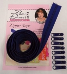 3 yards of Zipper Tape with 8 Slides Royal Blue