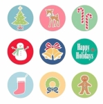 Lori Holt Magnets Featuring Cozy Christmas